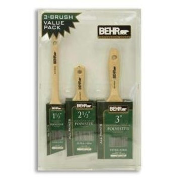 BEHR Professional Series 3 Brush Value Pack Paint Brushs 1.5 In. 2.5 in. & 3 In.