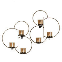 Mikasa Set of 2 Hammered Circles Sconces