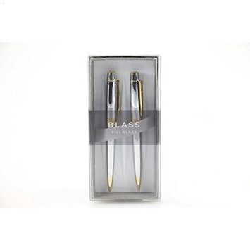 Bill Blass Dunham BB0221-1 Pen and Pencil in Chrome and Gold Tone