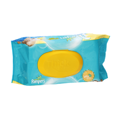 Pampers Thick Care Unscented Baby Wipes - 72 CT