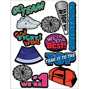 Outdoors & More 121738 Themed Die Cut Assortment-Cheerleading