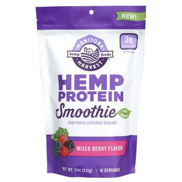 Manitoba Harvest Hemp Protein Smoothie Plus Greens Mixed Berry 11 oz - Vegan