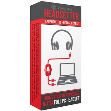 Digital Interactive XJacKer Headsetter Headphone-to-Headset Cable, Black