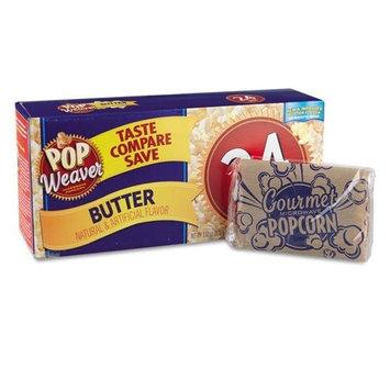 Pop Weaver Microwave Popcorn, Butter Flavor, 24/Pack