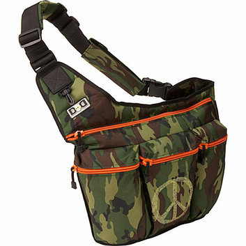 Diaper Dude Camouflage Diaper Bag with Peace Sign