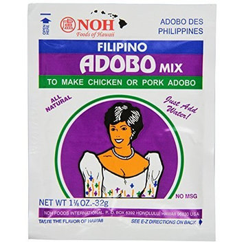 Noh Foods Of Hawaii NOH Filipino Adobo, 1 1/8 -Ounce Packet, (Pack of 12)