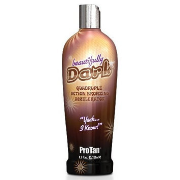 ProTan Pro Tan Beautifully Dark Bronzer Indoor Tanning Salon Bronzing Tan Lotion 8.5 fl oz 250mL e 8.5 Oz