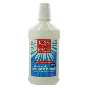 Kiss My Face Breath Blast Naturally Fresh & Healthy Mouthrinse with Fluoride