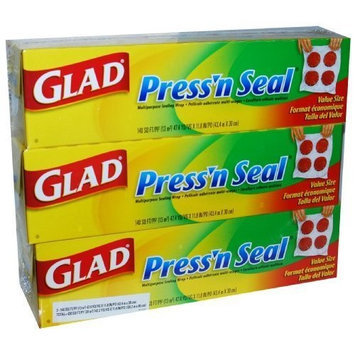 Glad Press'n Seal, 140 SQ. Foot, (Pack of 3)
