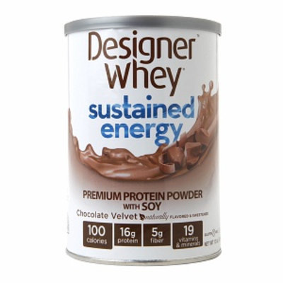 Designer Whey Sustained Energy Chocolate Velvet - 12 oz