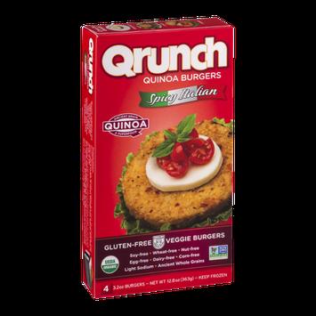Qrunch Quinoa Burgers Spicy Italian - 4 CT
