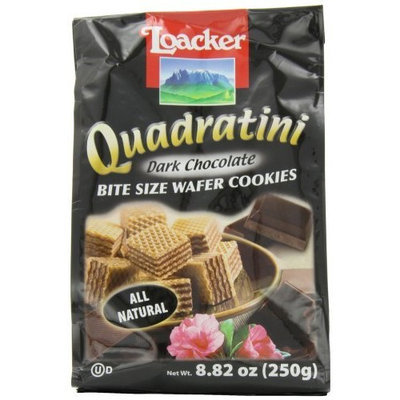 Loacker Quadratini, Bite Size Wafer Cookies, Dark Chocolate, 8.82-Ounce (Pack of 3)