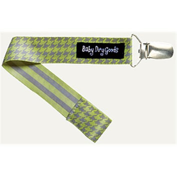 Baby Dry Goods 03013 GrayYellow Houndstooth Pacifier Clip