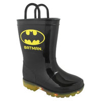 DC Comics Toddler Boy's Light Up Batman Rain Boot - Black 9