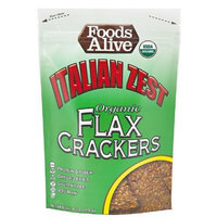 Foods Alive Golden Flax Crackers, Italian Zest, 4-Ounce Pouches (Pack of 6)