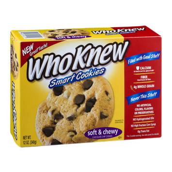 WhoKnew Smart Cookies Soft & Chewy Chocolate Chip Cookies