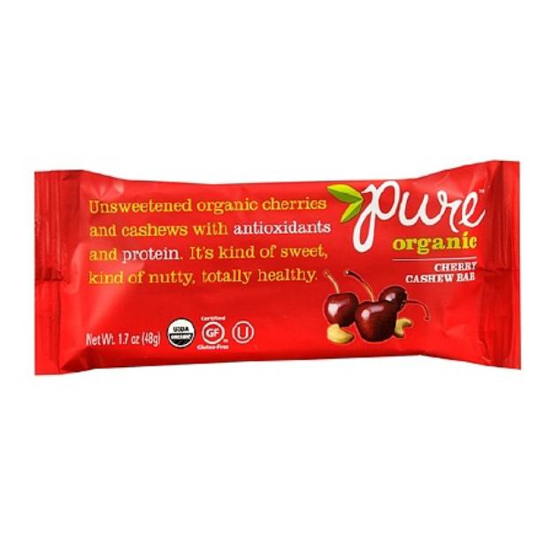 Pure Organic Nutrition Snack Bar Cherry Cashew
