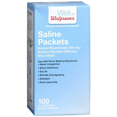 Walgreens Saline Packet Refils