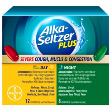Alka-Seltzer Plus Severe Cough, Mucus, & Congestion, Day & Night, 20 ea