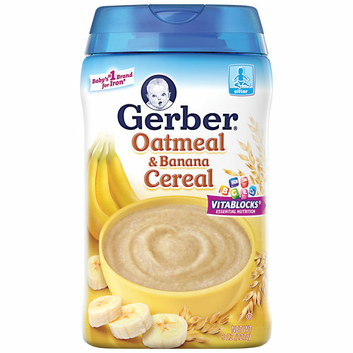 Gerber Oatmeal & Banana Cereal Baby Food