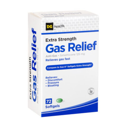 DG Health Gas Relief - Softgels, 72 ct