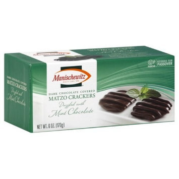 Manischewitz Dark Chocolate Covered Matzo Mint Cracker, 6-Ounce (Pack of 3)