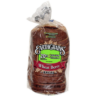 Earth Grains: Honey Wheat Berry Bread, 24 Oz
