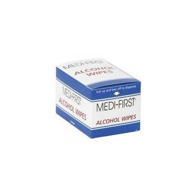 Medi First Alcohol Antiseptic Wipes Individually Wrapped Great for Wound Cleaning