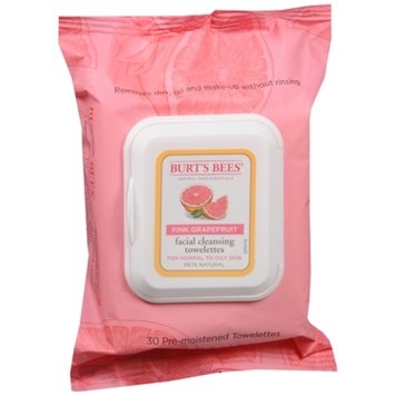 Burt's Bees Facial Cleansing Towelettes - Pink Grapefruit - 30 ct