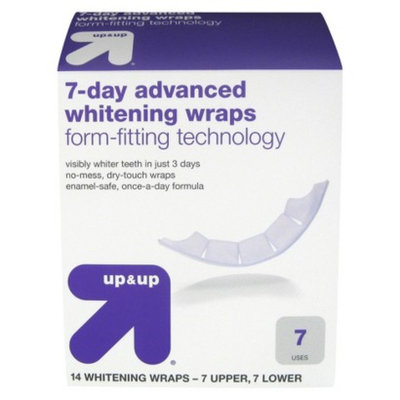 up & up up&up 7-Day Advanced Whitening Wraps - 14 Count