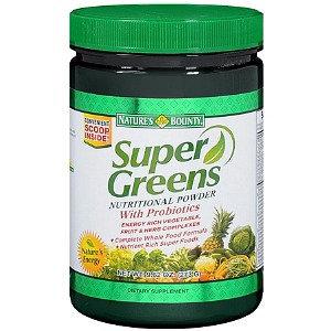Nature's Bounty Super Greens Nutritional Powder with Probiotics