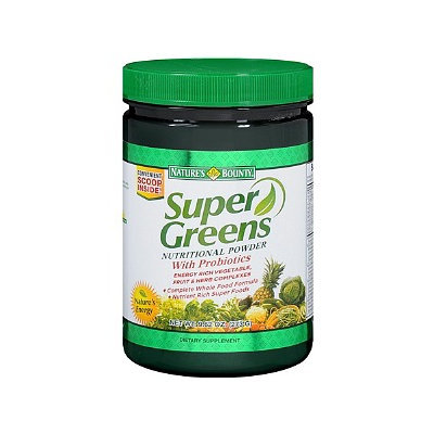 Nature's Bounty Super Greens Nutritional Powder with Probiotics
