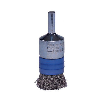 Weiler Banded Crimped Wire End Brushes - ebr-21 .006 ss3/4in dia e