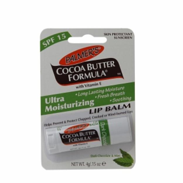 Palmer's Cocoa Butter Formula Moisturizing Lip Balm SPF 15, Dark Chocolate/Mint, .15 oz