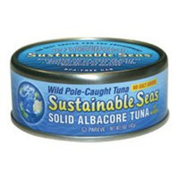 SUSSEA Sustainable Seas No Salt Added Solid Albacore Tuna in Water, 5 Ounce -- 12 per case. ( Value Bulk Multi-pack)