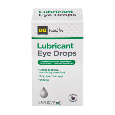 DG Health Lubricant Eye Drops