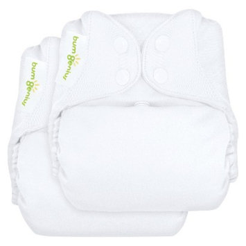 Bum Genius BumGenius Freetime All-in-One Snap Reusable Diaper 2 Pack - White,