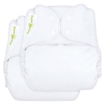 Bum Genius BumGenius Freetime All-in-One Snap Reusable Diaper 2 Pack - White,