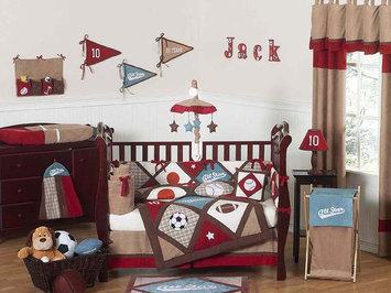 Jojo Designs, Llc. Sweet Jojo Designs All Star Sports Collection 9pc Crib Bedding Set