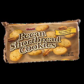 Giant Pecan Shortbread Cookies
