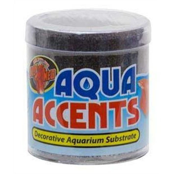 Zoo Med Laboratories AZMBA3 Aqua Accents Midnight Black Sand, 1/2-Pound