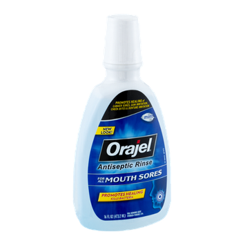 Orajel Mouth Sores Mint Antiseptic Rinse