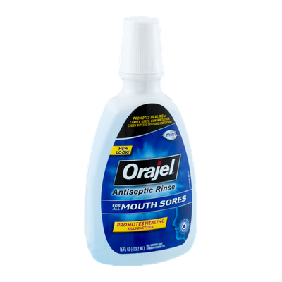 Orajel Mouth Sores Mint Antiseptic Rinse