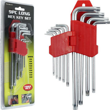 Trademark Commerce Trademark Tools 9 Piece Long Torx Key Set 9 Pc.