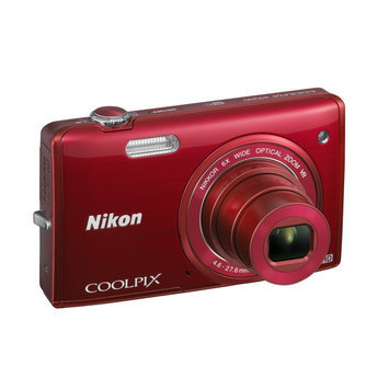 Cryo Interactive Entertainment Genuine Nikon Refurbished COOLPIX S5200 16MP HD WiFi Digital Camera (Red)