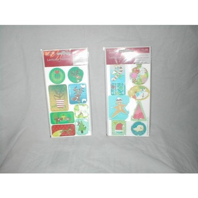 Blue Ribbon Merry Brite Lenticular Holographic Holiday Stickers ~ 1 Package Random Assorted Holiday Designs