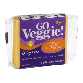 GO Veggie! Dairy Free Cheese Slices Cheddar - 10 CT