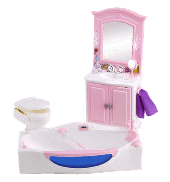 Fortune East Usa Llc Fortune East 6-in1 Dollhouse Furniture