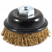 Forney 72875 Wire Cup Brush Industrial Pro Cable Crimped with M10-by-1.25 and M10-by-1.50 Multi Arbo