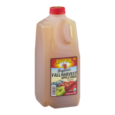 Big B's Organic Fall Harvest Apple Cider Unfiltered